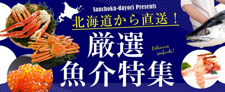 北海道から直送!厳選魚介特集